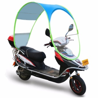 Philippines | Kingu0027s Simple Motorcycle Canopy Motorbike Roof Motor Bicycle SunVisor Shade Tent Umbrella Windshield (Blue) The best price  sc 1 th 225 & Philippines | Kingu0027s Simple Motorcycle Canopy Motorbike Roof Motor ...