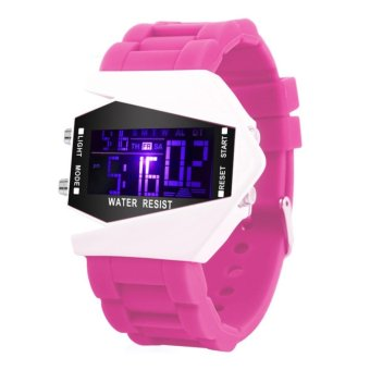 KingDo LED Watch Date Sports Digital Rubber Wristband Rectangle Dial Bracelet for Kids