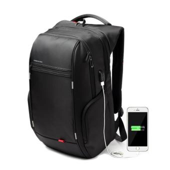 Kingsons 15.6 inches Elite Bag Designer Laptop Backpack Water-Resistant Anti-Theft Laptop Rucksack with USB Charging Port(Black)