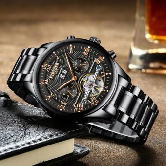 KINYUED Swiss Genuine Waterproof all Black Tourbillon AUtomatic MEchanical WATCH Men's watches - intl - 2
