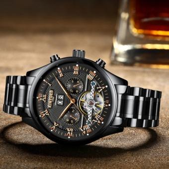 KINYUED Swiss Genuine Waterproof all Black Tourbillon AUtomatic MEchanical WATCH Men's watches - intl - 3