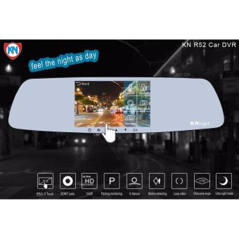 KN Night International R52 Rearview Mirror Dual Dashcam Car DVR Camera