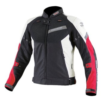 Komine JK-079 Air Stream Mesh 3D Jacket (Black/Red)