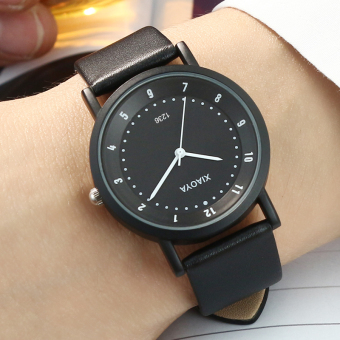 Korean-style casual leather belt couple's watches watch