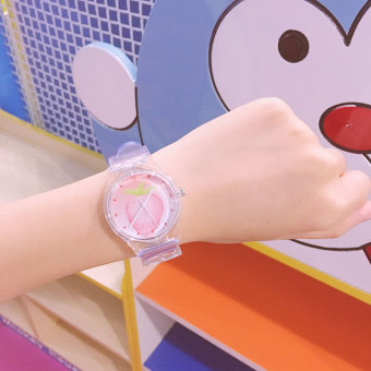 Korean style Japanese-style transparent strawberry fruit watch