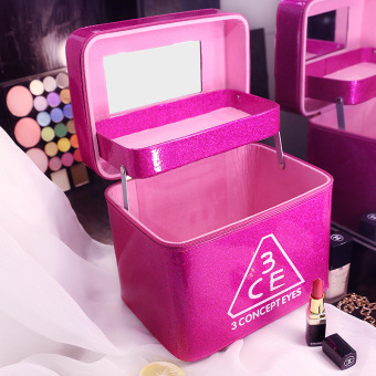Korean-style portable professional washed bag makeup box