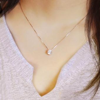 Korean-style Sweet Simple 925 Sterling Silver Zircon Choker Necklace Jewellery Women Fashion Jewellery Necklaces