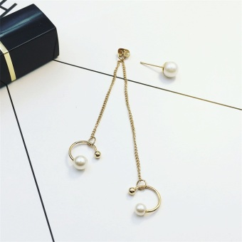 Korean-style tassled chain elegant earrings ear clip