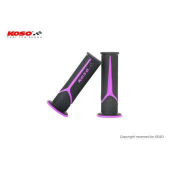 Koso Meteor Handle Grip (Black/Purple) for Yamaha Mio Soul (FI)