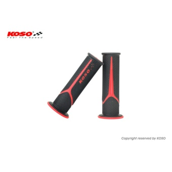 Koso Meteor Handle Grip (Black/Red) for Honda XRM 110/125