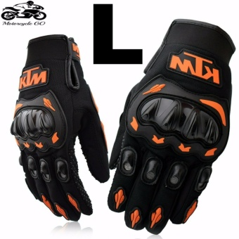KTM Gloves For Motorcycle/Cycling/Sports/Skiing/Climbing Size L (Orange/Black)