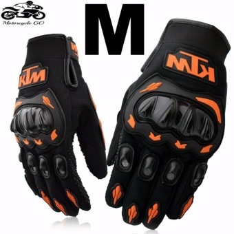 KTM Gloves For Motorcycle/Cycling/Sports/Skiing/Climbing Size M (Orange/Black)