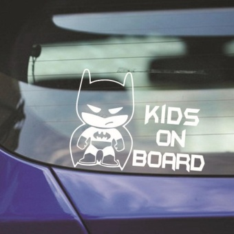 "Kuhong Funny Batman ""Kid on Board"" Auto Vinyl Sticker Window CarBumper Sticker - intl Price Philippines"