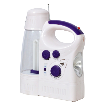 Kyowa L1388 Rechargeable Lantern with AM/FM Radio (White/Violet)