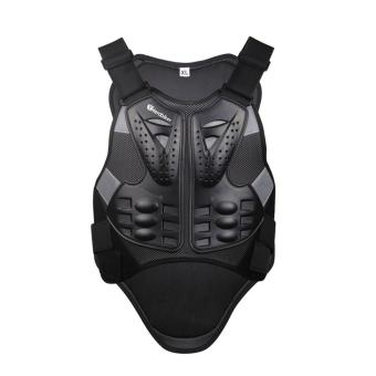 L Motocross Racing Armor Black Motorcycle Riding Body ProtectionJacket With A Reflecting Strip Motorcycle Armor