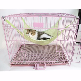 L Size Pet Nest Cat Cage Hammock Breathable Mesh Hole Cats Hang Bed (Green) - intl