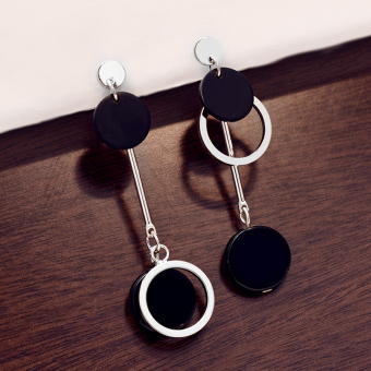 Lan Ting ornaments good female elegant stud cool earrings