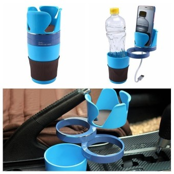 lanyasy Adjustable Car Cup Holder 5 In 1 Car Cup Holder Adapter 3 360°Rotation Layers Create More Space For Collection Car Storage Cup - intl