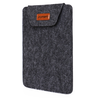 Laptop Ultra-thin Protective Felt Envelope Sleeve Case Pouch Bagfor Apple MacBook Pro 15 inch Universal 15 inch Laptop Grey - Intl