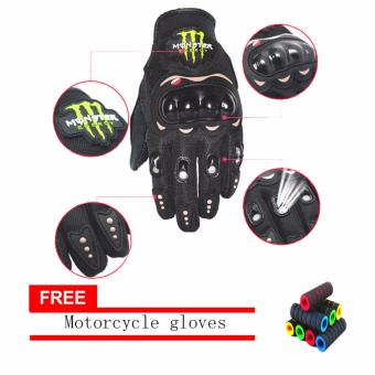 lazada and USA best selling AS SEEN ON TV Motorcycle Gloves Touring & Racing Black With Motorcycle handlebar sleeve