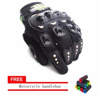 lazada and USA best selling AS SEEN ON TV Motorcycle Gloves Touring& Racing Black With Motorcycle handlebar sleeve