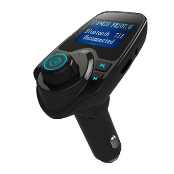 LCD Bluetooth Car MP3 Music Player Kit Auto Radio Audio StereoPlayer Hands-free FM Transmitter Extend MP3 USB SD MMC + 3.5mm AUX- intl - 3