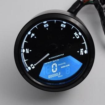 LCD Digital Tachometer Speedometer Odometer Motorcycle Motorbike12000RPM - intl - 4