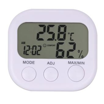 LCD Thermometer Hygrometer Digital Clock Humidity Temperature Measuring Meter