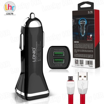 LDNIO DL-219 Dual 2.1A USB Car Charger for Android (Black) - 4