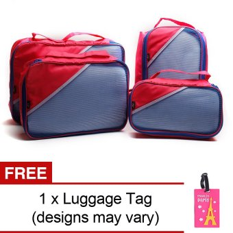 Le Organize 4-in-1 Luggage Organizer with Free Luggage Tag (Pink)