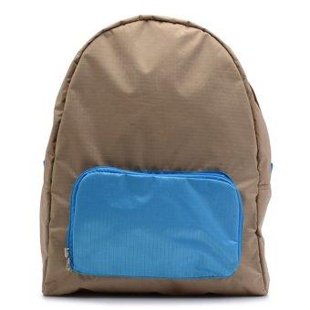 Le Organize Jammies Folable Backpack (Khaki/Baby Blue)