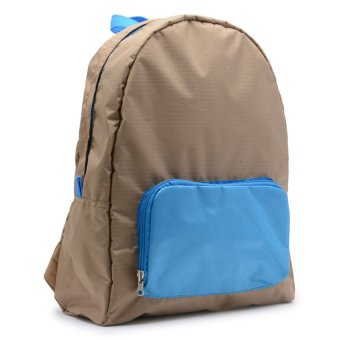 Le Organize Jammies Folable Backpack (Khaki/Baby Blue) - picture 2