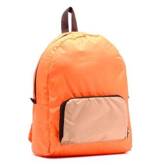 Le Organize Jammies Foldable Backpack (Orange/Khaki) - picture 2