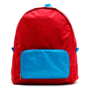 Le Organize Jammies Foldable Backpack (Red/Baby Blue)