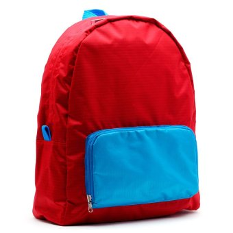 Le Organize Jammies Foldable Backpack (Red/Baby Blue) - picture 2