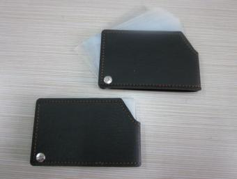 Leather credit card package leather business card bag