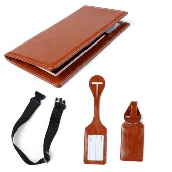 Leather ID Card Passcard Passport Holder Holders Bag TravelPassport Cover Case Passport Covers Luggage Straps & Tags