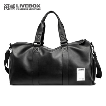 Leather large capacity travel luggage shoulder bag travel bag
