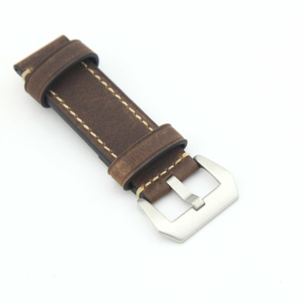 Leather Watch Band Strap Replacement Watch Belt 22mm for Man or Woman (Brown) - 3