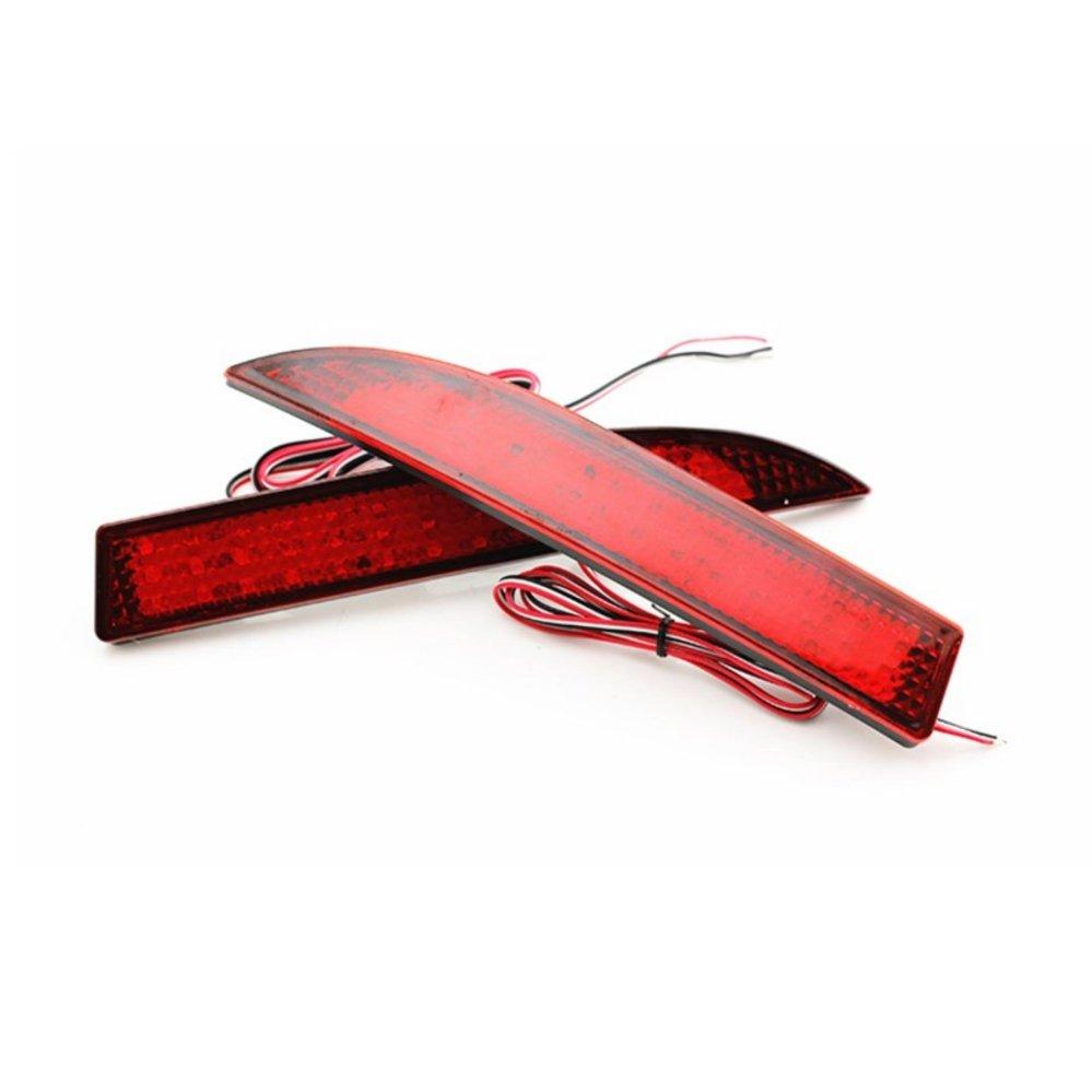 ... LED Car styling Red Lens Rear Bumper Reflector Light Fog ParkingWarning Brake Light Stop Bulbs Tail ...