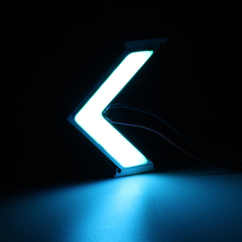 LED COB Arrow Panels Car Side Mirror Turn Signal Indicator Light Hight Bright (Ice Blue) - intl Price Philippines