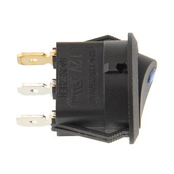 LED Lighted Dot Round Rocker Switch - picture 2