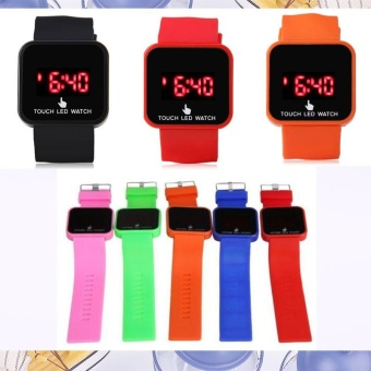 LED Touch Digital Screen Wrist Watch Time Date For Unisex School Boys Girls Kids - intl