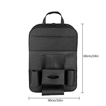 leegoal Car Seat Organizer Bag For Car Insulated Cellphone FoodStorage Organizer In The Car Backseat Hanging Bag Car Basket - 2