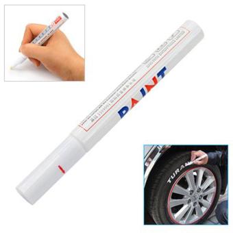 Leegoal Permanent Car Tyre Tire Metal Paint Pen Marker,White - Intl