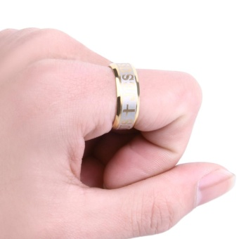 Letter Cross Embellishment Stainless Steel Rings for Men - intl - 5