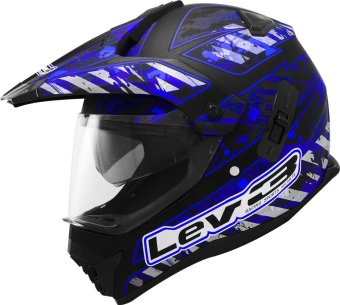 Lev3(R) DualSport Motard BJ-8910 Army Motorcycle Helmet(Matte/Black/Blue) Price Philippines