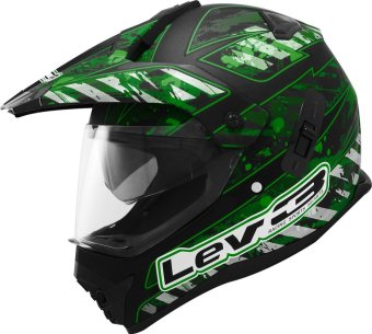 Lev3(R) DualSport Motard BJ-8910 Army Motorcycle Helmet(Matte/Black/Green) Price Philippines