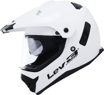 Lev3(R) DualSport Motard BJ-8910 Plain Motorcycle Helmet (White) Price Philippines