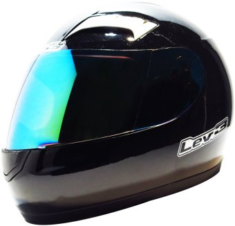 Lev3(R) FullFace BJ-9900 Plain Motorcycle Helmet (Black) Price Philippines